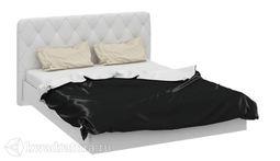 Кровать Амели с мягким изголовьем 1600