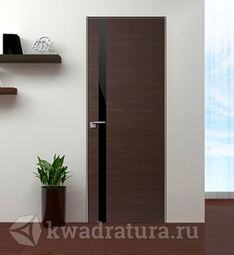 Скрытая межкомнатная дверь ProfilDoors 6Z Венге Кроскут