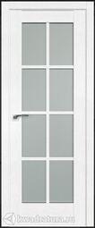 Межкомнатная дверь Профильдорс 101х Пекан белый стекло матовое
