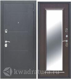 Входная дверь Феррони Гарда 7,5 см Зеркло фацет Серебро/Венге