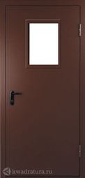 Дверь противопожарная со стеклом ДПМO EI60-01 Ral 8017