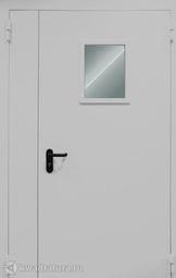 Дверь противопожарная со стеклом ДПМO EI60-02 Ral 9016