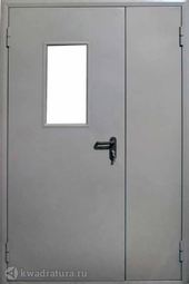 Дверь противопожарная со стеклом ДПМO EI60-02 Ral 7035