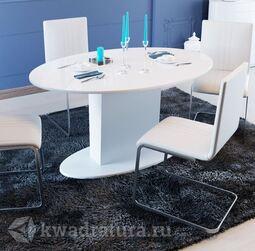 Стол обеденный Марсель Белый/Стекло белое глянец СМ(Б)-102.01.12(2)