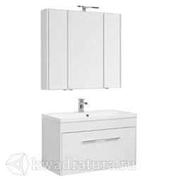 Комплект мебели для ванной Aquanet Августа 100 белый
