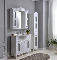Комплект мебели для ванной Atoll Мастер и Маргарита 100 белый
