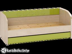 Маугли Кровать-диван бежевая/зеленая
