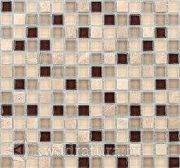 Мозаика стеклянная c камнем Bonaparte Glass stone-12 30х30