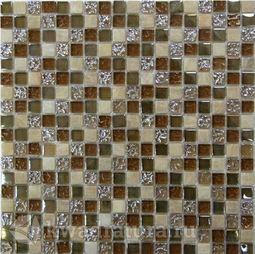 Мозаика стеклянная c камнем Bonaparte Glass Stone-1 30х30