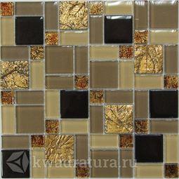 Мозаика стеклянная c камнем Bonaparte Liberty-3 30х30