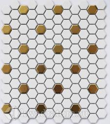 Мозаика керамическая Bonaparte Babylon gold (Matt) 26х30