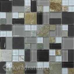 Мозаика стеклянная c камнем Bonaparte Style time-48 30х30