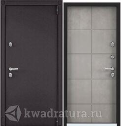 Дверь входная стальная Торэкс Snegir 55 8019/ПВХ Бетон серый S55-HT-1