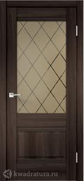 Межкомнатная дверь VellDoris Alto 2V Орех каштан стекло бронза