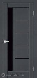 Межкомнатная дверь VellDoris Premier 3 Ясень графит стекло Лакобель черн 2000х800