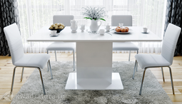 Стол обеденный Даймонд Белый глянец