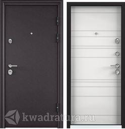 Дверь входная стальная Торэкс Ultimatum MP Горячий шоколад 8019/КТ Белый КВ-29