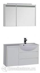 Набор мебель для ванной Aquanet Лайн 90 R белый