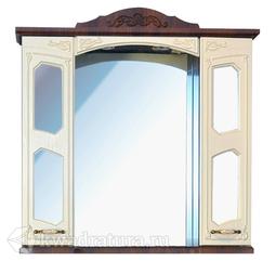 Зеркало-шкаф Atoll Маргарита 100 орех/белый жемчуг