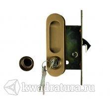 Ручка с механизмом ключ Archi для раздвижной двери античная бронза